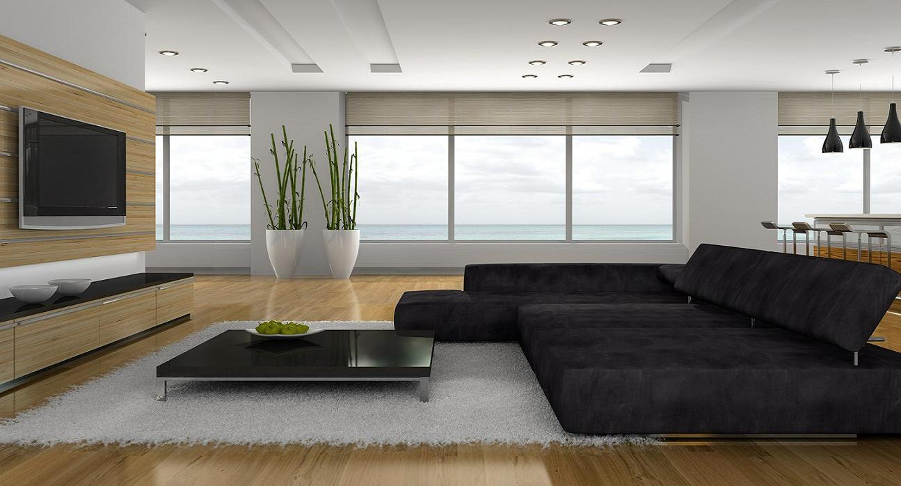The Modern Coffee Table Displays Sleek And Uncluttered Lines. The Living  Room Of Your Home ...