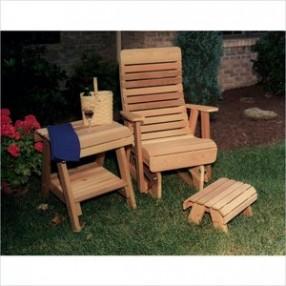Creekvine Designs Cedar Twin Ponds Rocking Glider Chair Set