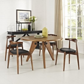 Modway Stalwart Dining Chairs and Table Set of 5
